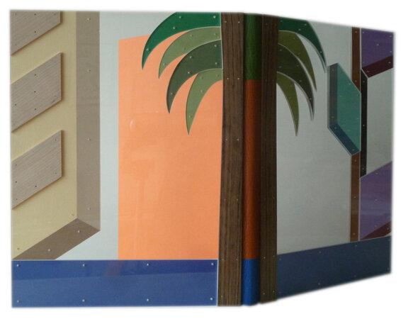 Los Angeles Palm Trees. by PETER JONES, designer bookbinder. RED FOX PRESS & FRANTICHAM BOOKS.