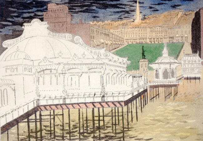 Brighton Aquatints. Twelve original aquatints of modern Brighton with short descriptions by the artist and an introduction by Lord Alfred Douglas. by PIPER, John.