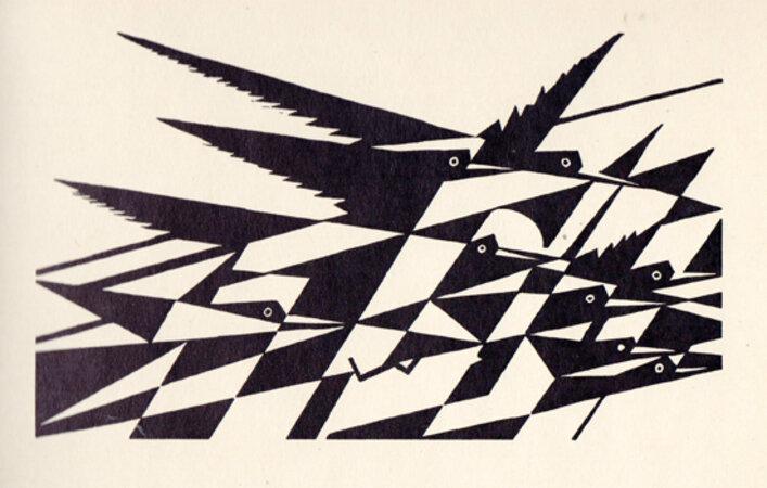 Contemporary English Woodcuts. by McKNIGHT KAUFFER, E. WADSWORTH, Edward, GIBBINGS, Robert, RAVERAT, Gwen, ROOKE, Noel, WHITE, Ethelbert. DODGSON, Campbell.