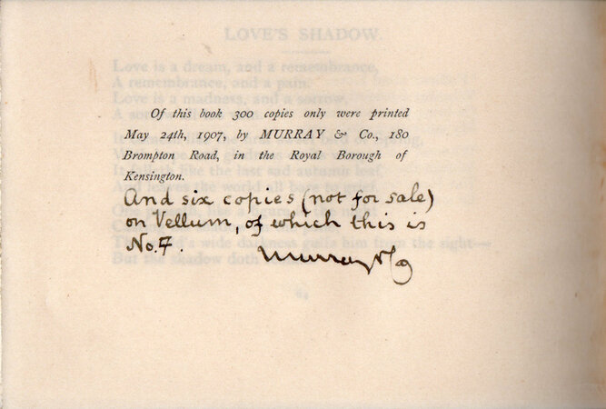 A Minor Poet Sings. by [MURRAY, Francis Edwin]