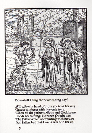 The Story of Cupid and Psyche with illustrations designed by Edward Burne-Jones, mostly engraved on the wood by William Morris. by CLOVER HILL EDITIONS. MORRIS, William. BURNE-JONES, Edward.