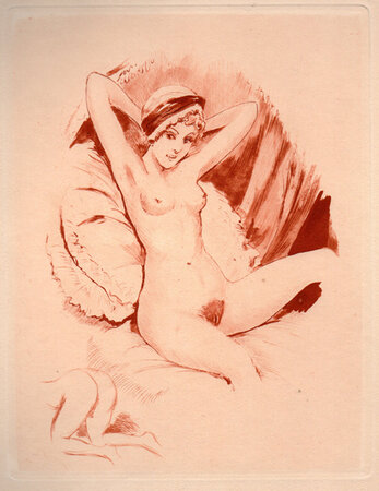 Erotic Etchings. by BECAT, Paul-Emile.