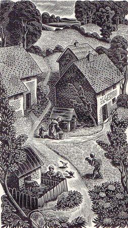 Gray's Elegy written in a Country Church-yard. by GOLDEN COCKEREL PRESS. MORGAN, Gwenda. GRAY, Thomas.