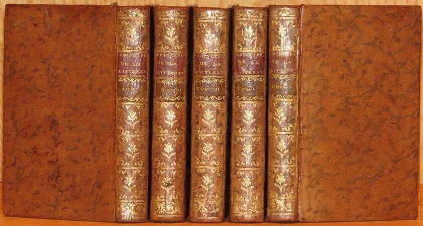 Principes de la Literature. by BATTEUX, M. l'Abbe.