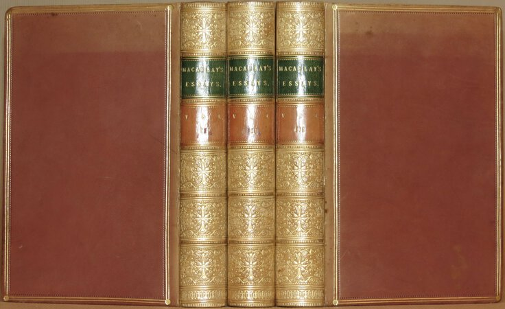 Critical and Historical Essays contributed to the Edinburgh Review. Ninth edition. In three volumes. by MACAULAY, Lord.