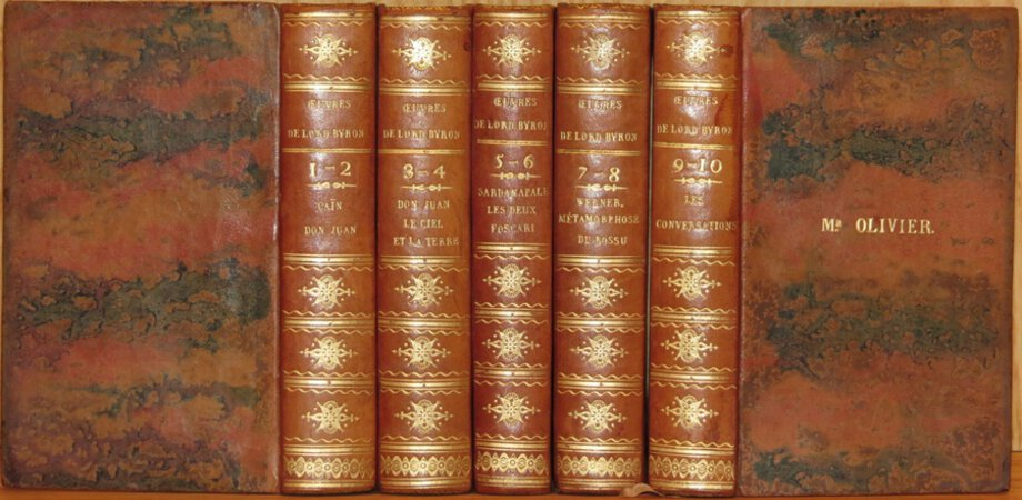 Oeuvres Nouvelles de Lord Byron. ( In French ). by BYRON, Lord ( Translated by A. P….T. )