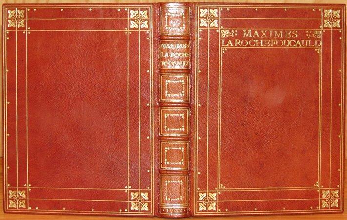 Maximes by LA ROCHEFOUCAULT (François. Duc de).