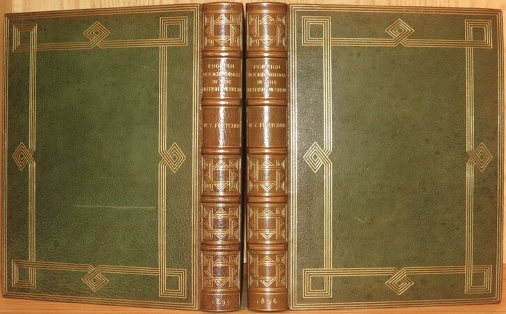 English Bookbindings in The British Museum. (Together with) Foreign Bookbindings in the British Museum. by FLETCHER, William Younger