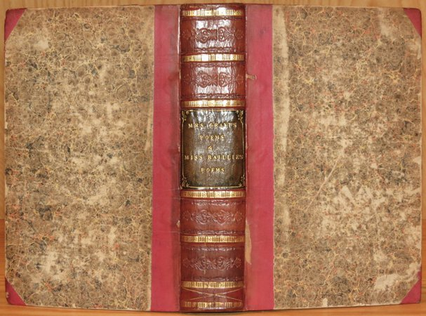 Poems on Various Subjects. (Bound with) A Collection of Poems. by GRANT, Mrs (Anne MacVicar) & BAILLIE, Joanna