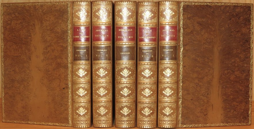 Life of Lord Jeffrey (2 vols) ; Memorials of His Time; Journal of Henry Cockburn 1831 – 1857 (2 vols). by COCKBURN, Henry Thomas Cockburn of Bonaly, Lord