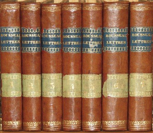 Recueil de Lettres. by ROUSSEAU, Jean Jacques