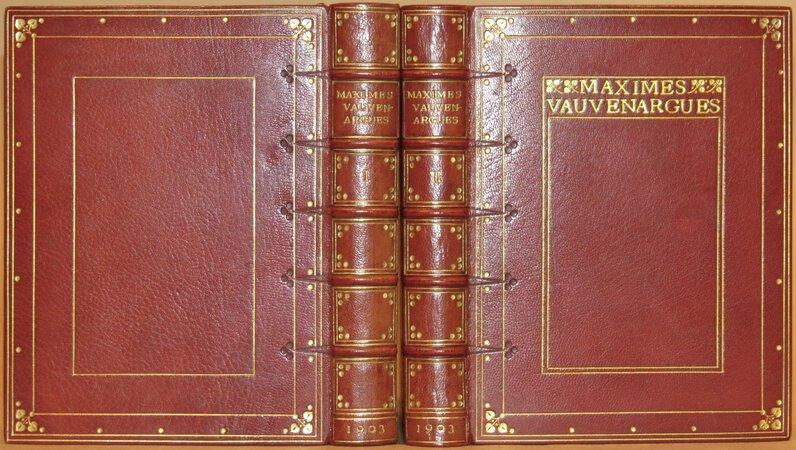 Maximes. by VAUVENARGUES, Luc de Clapiers, Marquis de