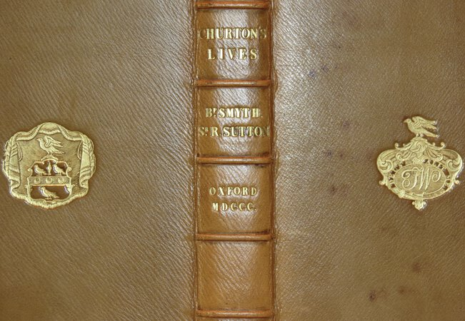 The Lives of William Smyth Bishop of Lincoln and Sir Richard Sutton Knight, Founders of Brasen Nose College. by CHURTON, Ralph