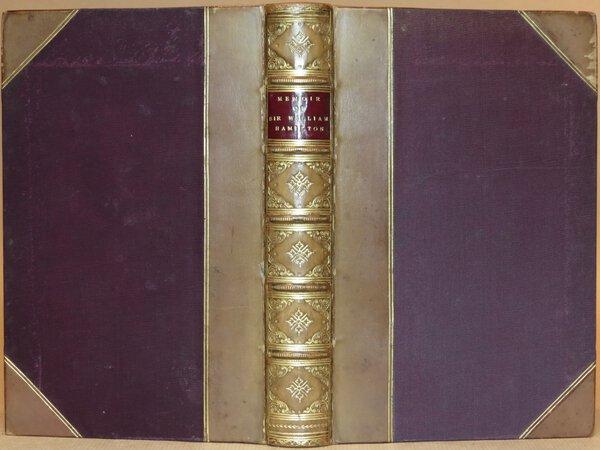Memoir of Sir William Hamilton, Bart. Professor of Logic and Metaphysics in the University of Edinburgh. by VEITCH, John