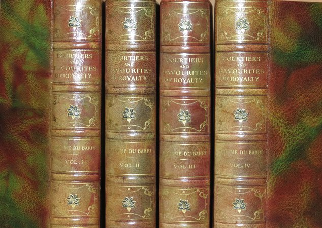 COURTIERS and Favourites of Royalty. Comprising: Madame Du Barri, in 4 volumes; Memoirs and Correspondence of Madame D'Epinay, in 3 volumes; Talleyrand, in 2 volumes; Memoirs of Duke de Richelieu, in 3 volumes; Memoirs of Joseph Fouché, Duke of Otranto; Marmontel, in 2 volumes; Cardinal de Retz; History of Henry IV.