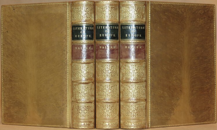 The Literature of Europe. by HALLAM, Henry