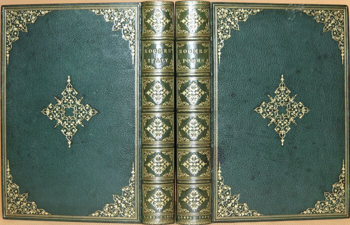 Italy. (Bound uniformly with) Poems. by ROGERS, Samuel