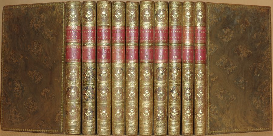 The Works. (Comprising: Tristram Shandy; Sentimental Journey; Sermons; Letters). by STERNE, Laurence