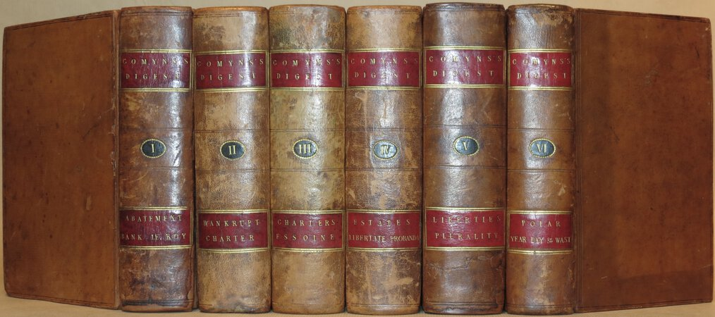 A Digest of the Laws of England. by COMYNS, Sir John