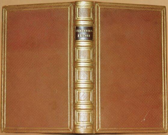 (Plays). Publii Terentii Afri Comoediae Sex ad Fidem Editionis Zeunianae Accurate Recensitae. by TERENCE (Publius Terentius Afer)