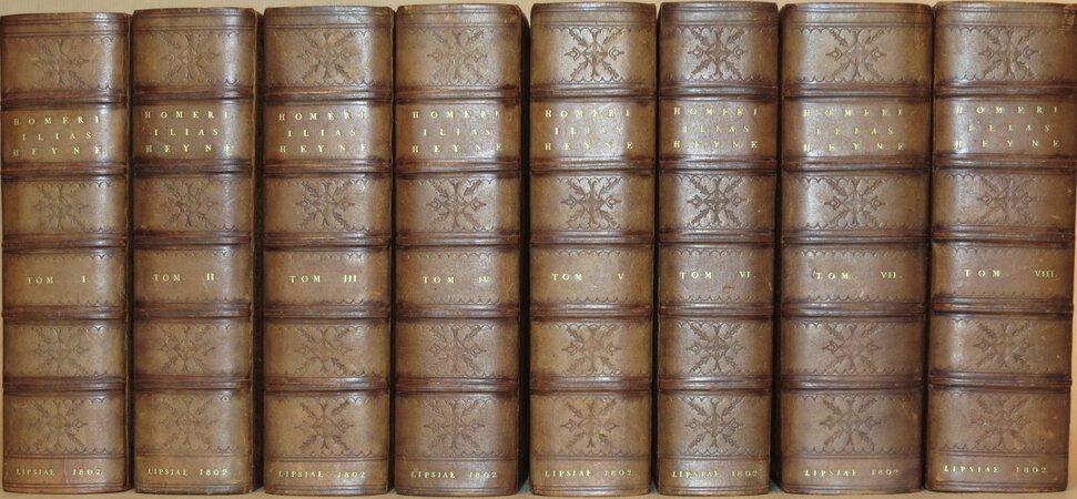 (The Iliad) Homeri Carmina : Cum Brevi Annotatione. Accedunt Variae Lectiones et Observationes Veterum Grammaticorum cum Nostrae Aetatis Critica. Curante C. G. Heyne. by HOMER.