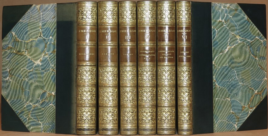 The Works of Ralph Waldo Emerson. Comprising: Miscellanies; Essays, Poems; English Traits; Representative Men; Conduct of Life etc.; Letters and Social Aims. by EMERSON, Ralph Waldo