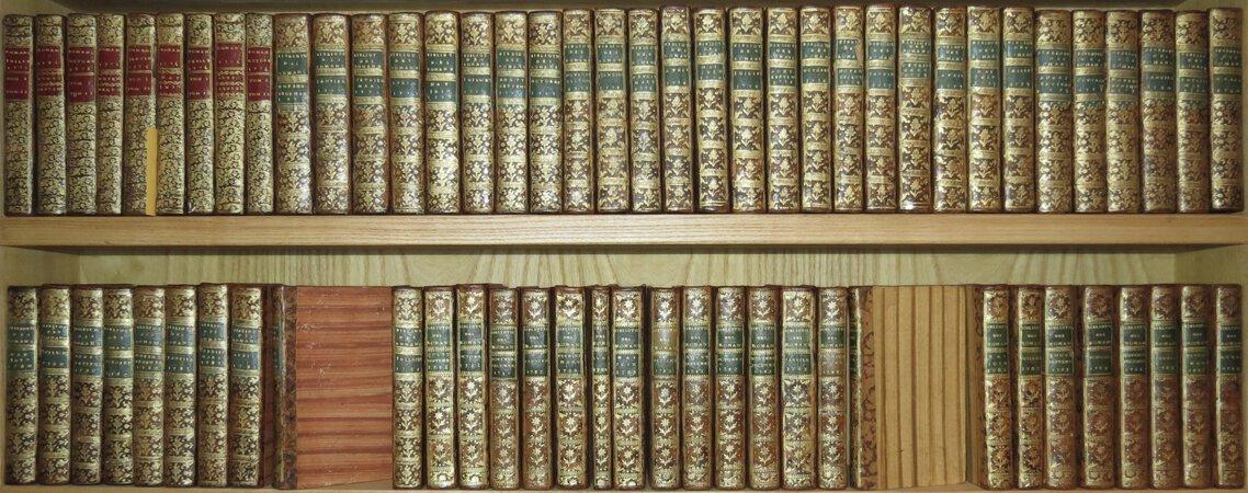 BIBLIOTHÈQUE UNIVERSELLE DES ROMANS, ouvrage périodique, dans lequel on donne l'analyse raisonnée des romans anciens & modernes, françois, ou traduits dans notre langue. July 1775-April 1784.