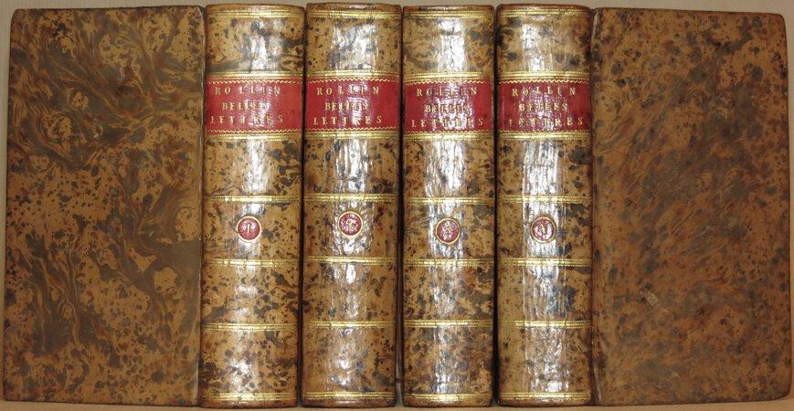 De la maniere d'enseigner et d'etudier les Belles Lettres. by ROLLIN, Charles.