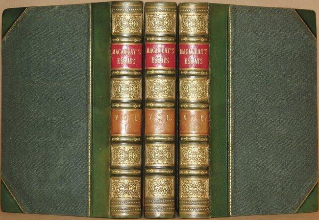 Critical and Historical Essays. by MACAULAY, Thomas Babington