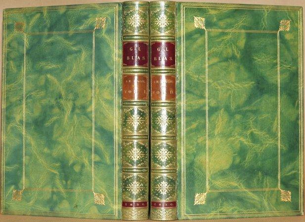 Les Adventures de Gil Blas de Santillane. by LE SAGE, Alain Rene (SMOLLETT, Tobias, translated from the French by).
