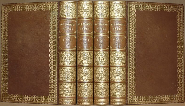 Sir Thomas Browne's Works. Including his Life and Correspondence. by BROWNE, Thomas.