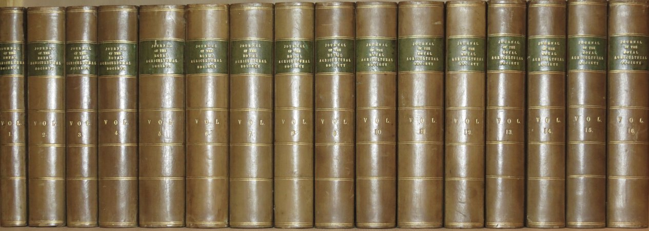 The Journal of the Royal Agricultural Society of England. by ROYAL Agricultural Society.