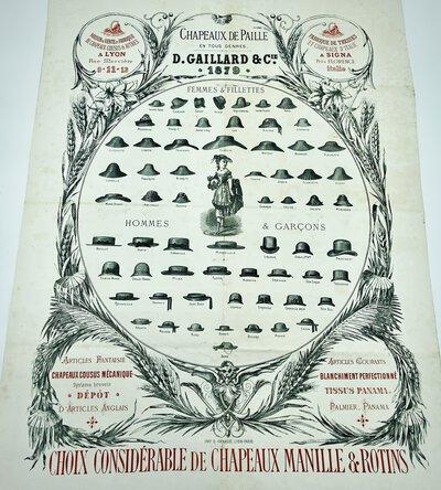 CHAPEAUX DE PAILLE EN TOUS GENRES. by (D. GAILLARD & Cie.)