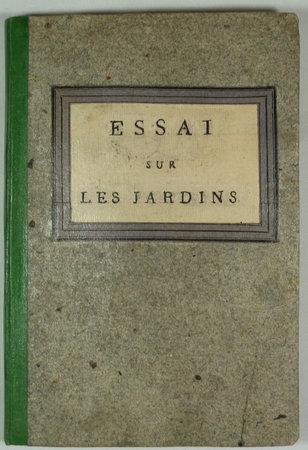 ESSAI SUR LES JARDINS. by  CURTEN (Aîné).