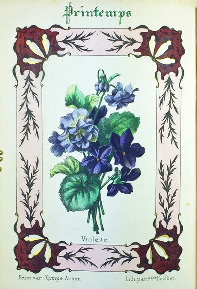 COURONNE DE FLORE by ( Flower Painting and FlowerLore ) DESBORDES-VALMORE (Marcelline), Amable TASTU, LA COMTESSE DE BRADI et Jules BAGET.