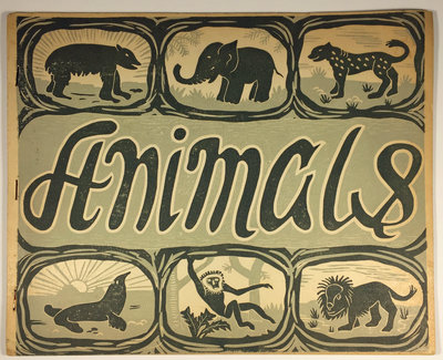 A BOOK OF ANIMALS. by (Children's Art Education) SMALLBERRY GREEN SECONDARY MODERN SCHOOL (ELLIS, W.)