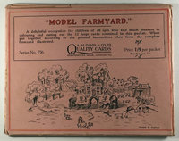 """Model Farmyard."" (packet title) by (Interactive- Cut-Out Cards) A.M. Davis & Co. Ltd./Quality Cards (publisher)."