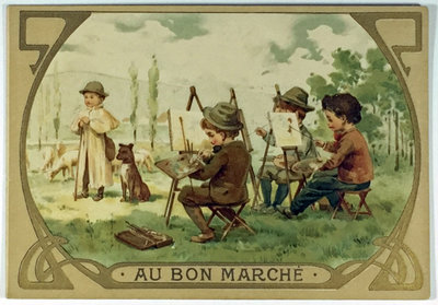 A COLOURING CARD FOR CHILDREN by (Au Bon Marché)