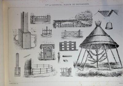 ALBUM DU PAYSAGISTE POUR L'ARRANGEMENT DES PARCS ET DES JARDINS. by COURVAL, Vicomte de.
