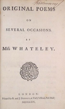 Original Poems on Several Occasions. by WHATELEY, Mary (1738-1825).