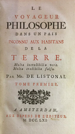 Le Voyageur Philosophe by VILLENEUVE, Daniel de, pseud. LISTONAI.