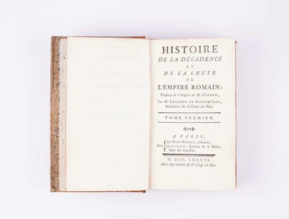 Histoire de la Décadence et de la Chute by GIBBON, Edward (1737-1794).LECLERC DE SEPT-CHÊNES (d. 1788).