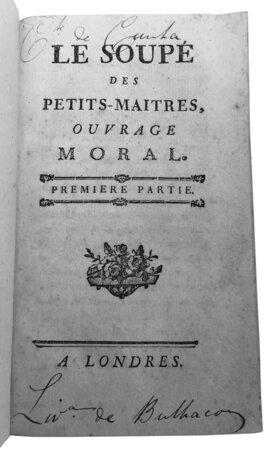 Le Soupé des petits-maîtres, by CAILHAVA, Jean-François de l'Estendoux (1731-1813).