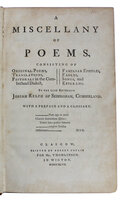 A Miscellany of Poems, by RELPH, Josiah (1712-1743).