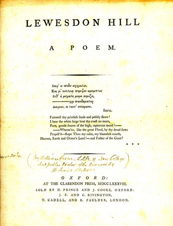 Lewesdon Hill: a poem by  CROWE William