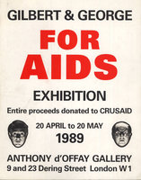 For AIDS Exhibition by GILBERT & GEORGE