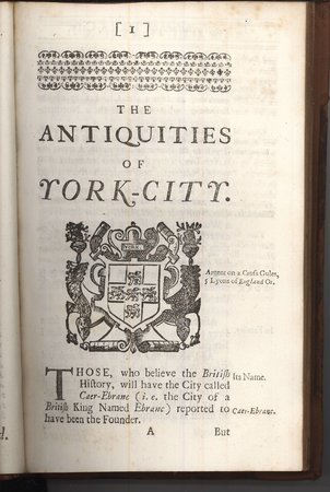 The Antiquities of York City by  TORR James,