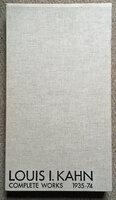 Louis I Kahn: Complete Works 1935-1974 by [KAHN 1901-1974] RONNER Heinz