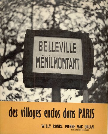 Belleville Menilmontant by  RONIS Willy ORLAN Pierre Mac,