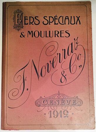 Fers Spéciaux by Trade Catalogue F. Noverraz & Co.,